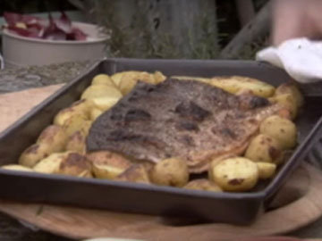 филе рыбы на картофеле