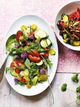 Летний салат из овощей Рататуй