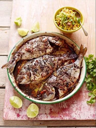 Маринованная рыба, запеченная в духовке