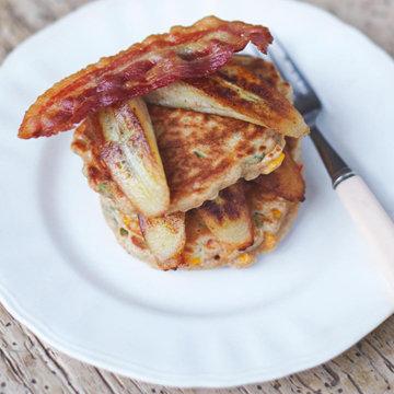 cheese & corn pancakes