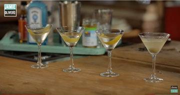 приготовить 4 мартини классика, сухой, мокрый, грязный