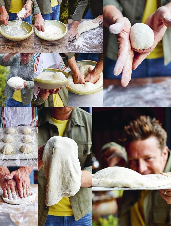 Мастер класс Джейми Оливера Простое тесто для пиццы Неаполитанской
