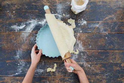 Пирог с лимонным курдом и безе 2
