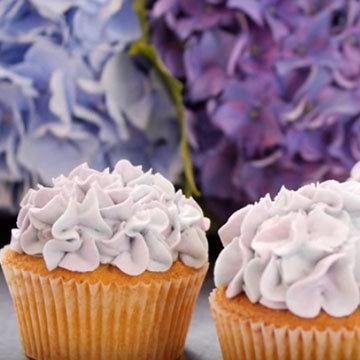 Как украсить капкейки цветами гортензии 4