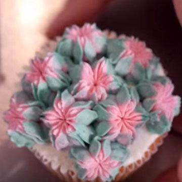 цветы из крема 6