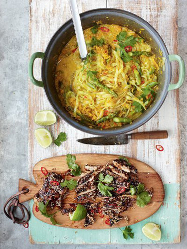 Тайский суп с курицей laksa Джейми приготовит за 15 минут