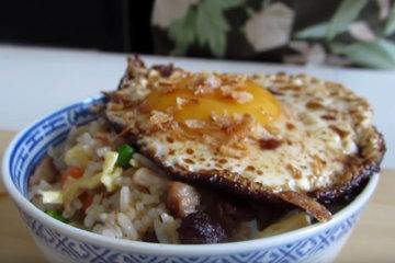 Вариант с жареным яйцом 4