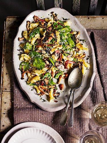 Зимний рецепт пасты салат с грибами