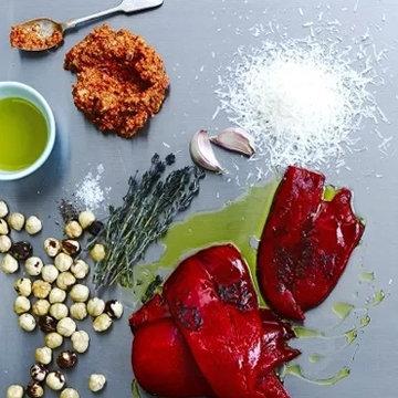 Соус песто рецепт с запеченным перцем
