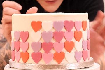 OMBRÉ торт с сердцем 8