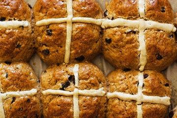 Крестовые булочки к Пасхе без глютена 1