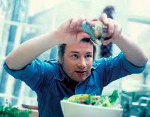 Джейми Оливер на кухне