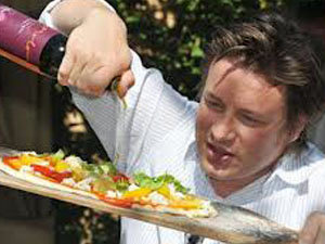 Джейми Оливер с пиццей