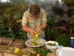 Как перемешать салат из кабачков