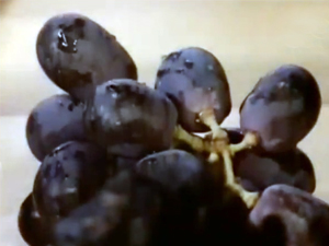 Подать виноград к сырной тарелке