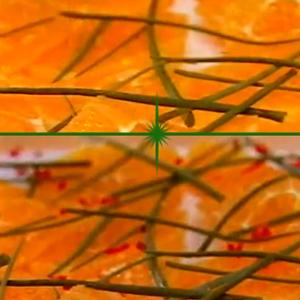Салат из апельсинов как гарнир к креветкам