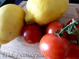 Продукты для моцареллы, запеченной в лимонах