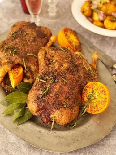 Рецепты к Новогоднему столу и Рождеству от Джейми! Утка в духовке с соусом и картофелем