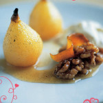 Десерт из груш с ореховым кремом