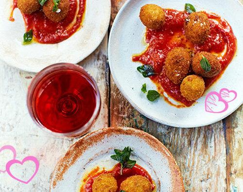 Рецепты ко дню св. Валентина от Джейми! Закуска - маслины во фритюре