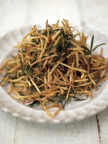 Рецепты постных блюд. Картофель жареный с лимонной солью