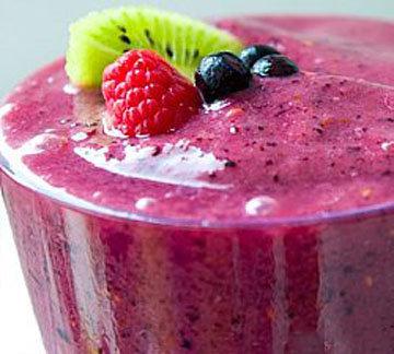 Фиолетовый коктейль-смузи