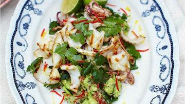 Kальмары и салат с кальмарами