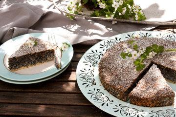 Вкусный маковый торт