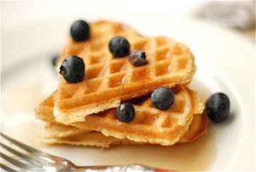 Вкусные вафли на завтрак