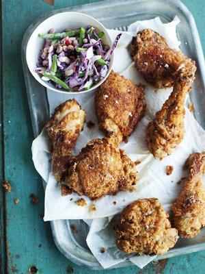 Маринованная курица, приготовленная во фритюре