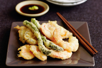 Темпура - морепродукты и овощи