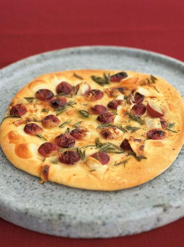 Пицца рецепт приготовления с виноградом