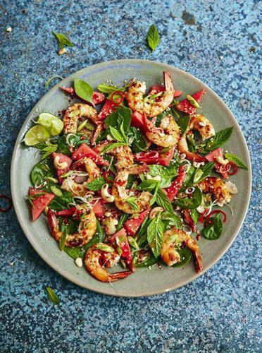 Салат с креветками рецепт с арбузом