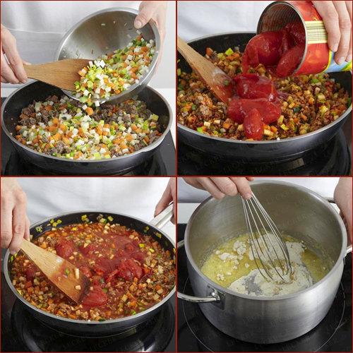 Далее готовится лазанья