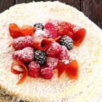 Кокосовый торт со сгущенкой