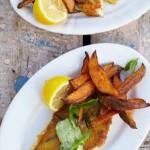 Жареная рыба рецепт со сладким картофелем