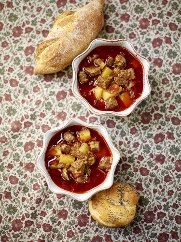 Суп с говядиной аля гуляш
