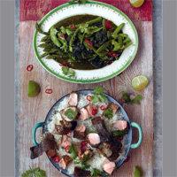 Как приготовить лосось за 15 минут+рис+овощи с соусом