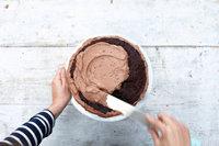 Простой шоколадный торт с кремом10