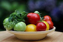 используйте красные помидоры