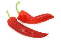 3 свежих красных перца чили