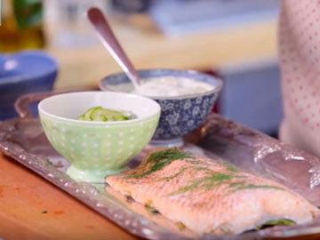 Подавать лосось