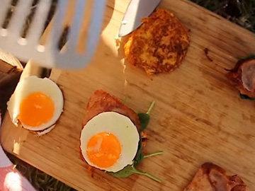 Мастер класс Завтрак с яйцами и беконом 3