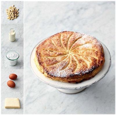 Миндальный пирог из слоеного теста