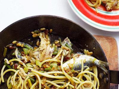 Спагетти с сардиной