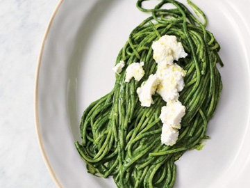 Супер зеленые спагетти