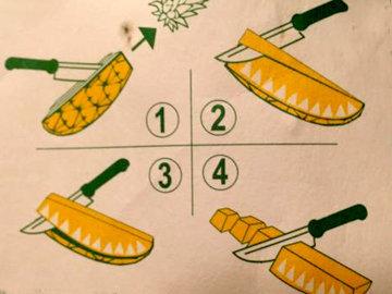 Очистить и нарезать ананас 1
