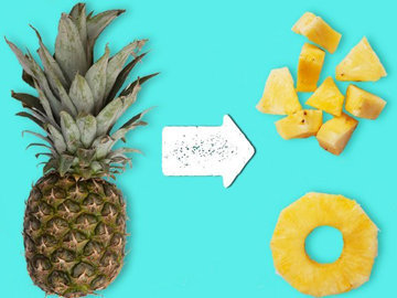 Очистить и нарезать ананас