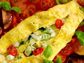 Омлет с салатом 10