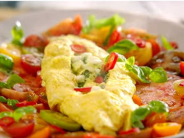 Омлет с салатом 9